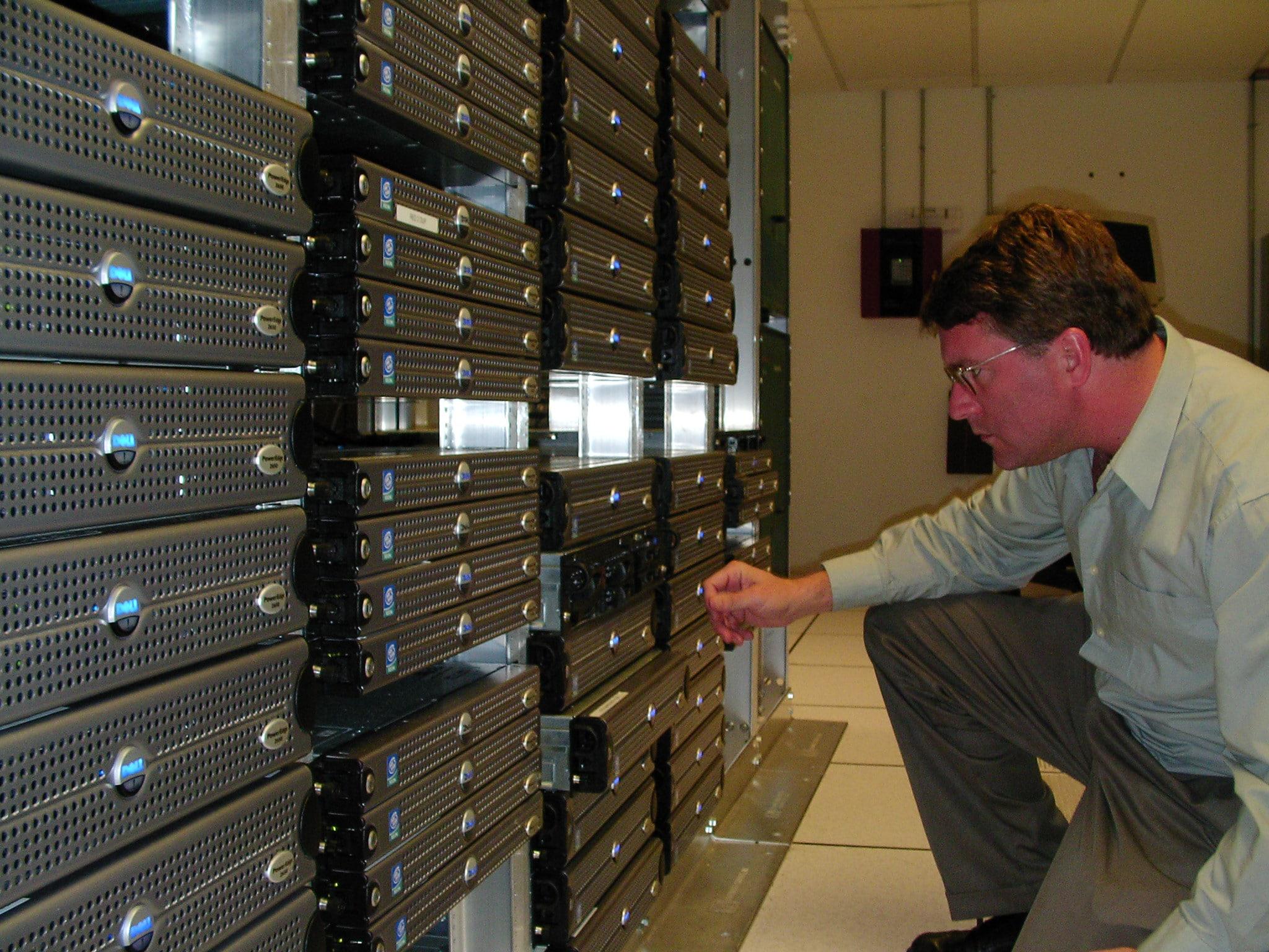 Ben with servers