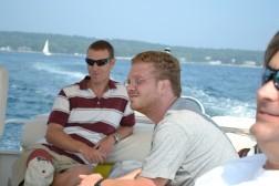 Wes and Tony on Ed's Boat
