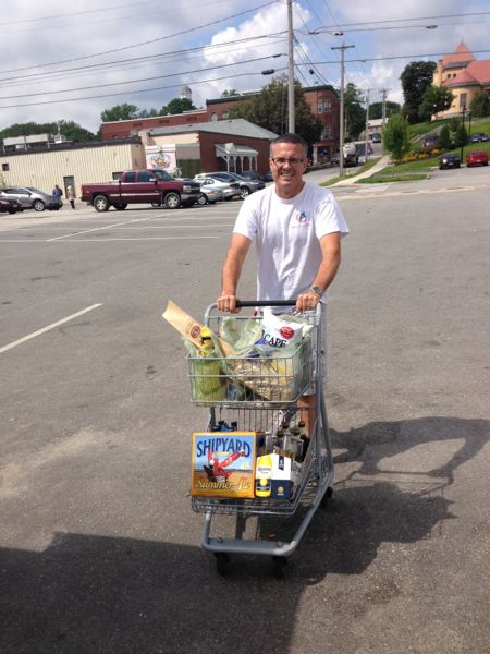 Dan shopping for a cruise