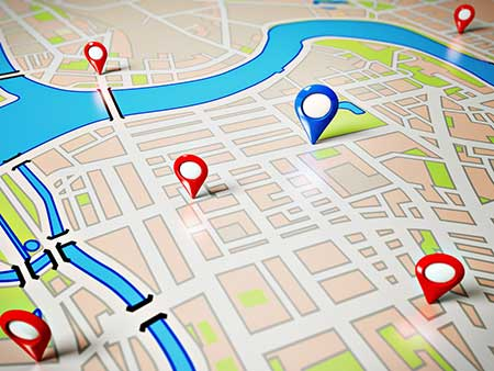 gps map listing service