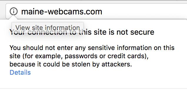 Non secure icon info