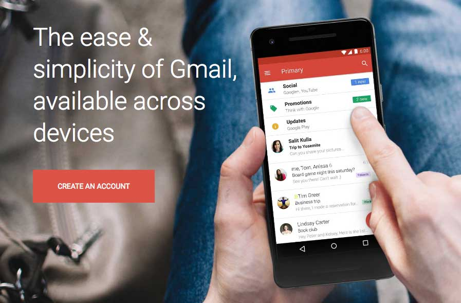 setting up your gmail account
