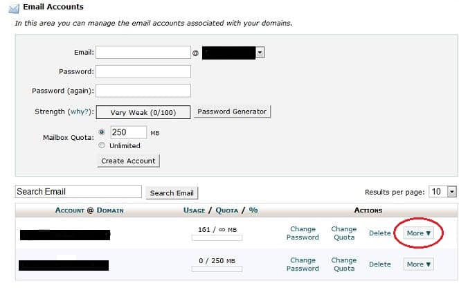 Access Email account through Webmail
