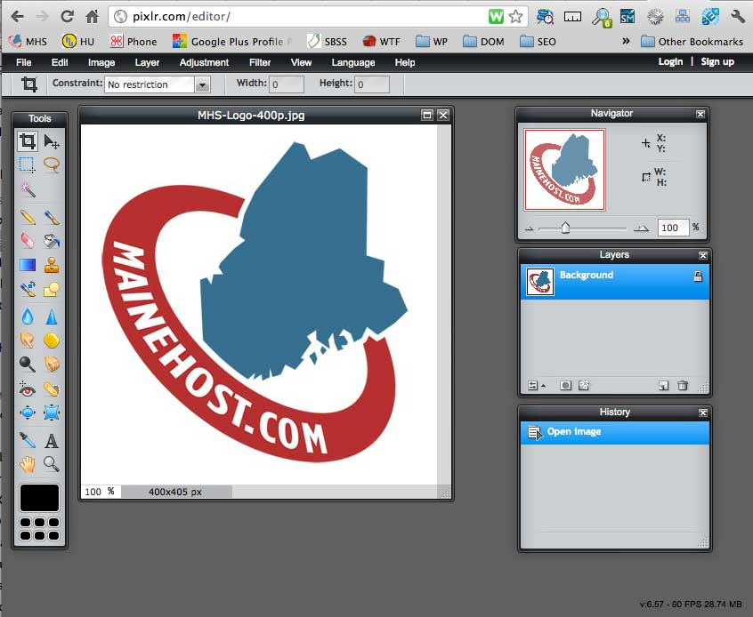 Online Image Editing With Cloud Computing